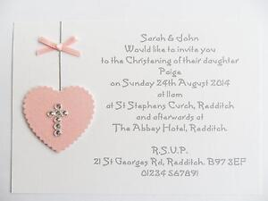 Christening invitations cards invites ebay handmade christening invitations stopboris