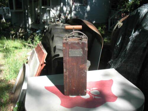 An 1895 Dynamite Detonator Box Blasting Machine H.Julius Smith