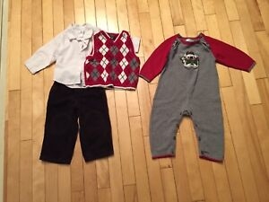 Boys size 12 month Christmas outfits