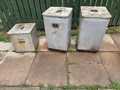 Vintage Grundy Bin With Lid Garden Trough Planter x 3 ! BARGAIN PRICE MUST SELL