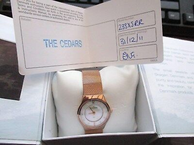 ladies skagen denmark watch , boxed with papers,,used running order