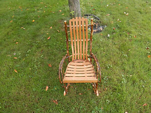 Amish Made Hickory Rocker Rocking Chair Child Small  eBay
