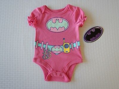 Batman Justice League DC Comic Infant Baby Toddler Girls Creeper Bodysuit - Justice League Girl