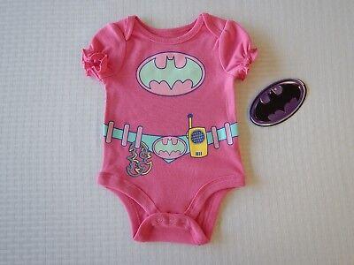 Batman Justice League DC Comic Infant Baby Toddler Girls Creeper Bodysuit ()