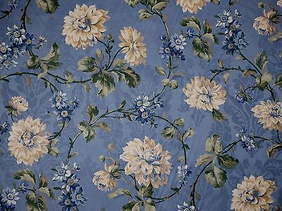 (Mill Creek Floral COPEN Blue Home Decor Cotton Jacquard Drapery Sewing Fabric )