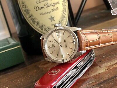 Rolex 1966 Vintage Oyster Perpetual Date used second Hand Steel Men watch + Box