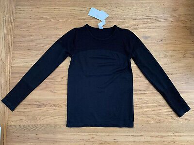 NWT FABLETICS Musetta Seamless sz M Mesh black pullover top Active