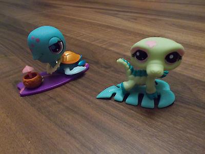 2 Littlest Pet Shop Schildkröte und Krokodil
