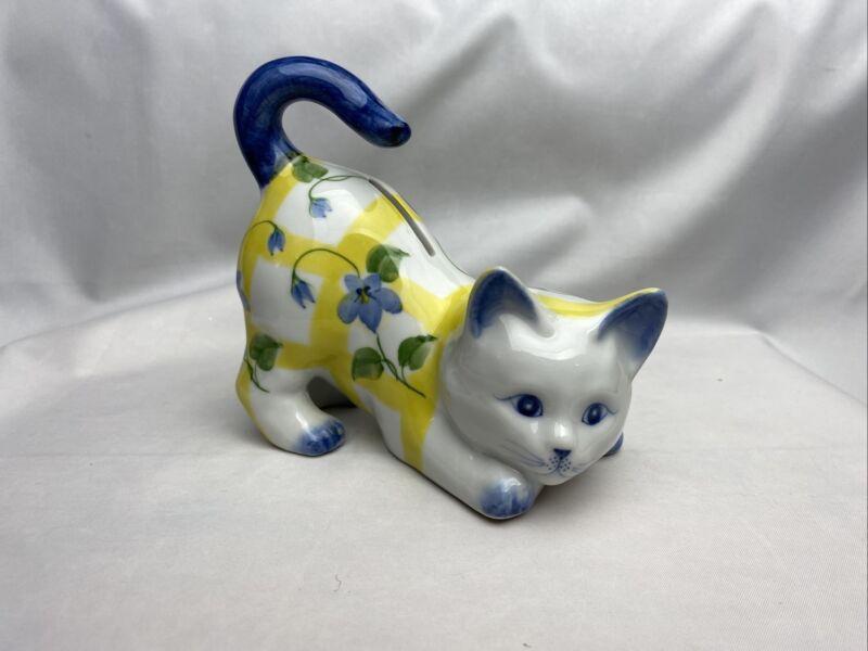Ceramic Kitten Cat Coin Piggy Bank BEAUTIFUL ART PIECE, JUST STUNNING & MINT!!