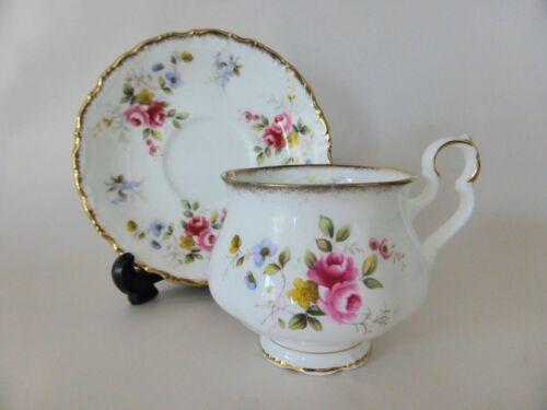 """Royal Albert """"Tenderness"""" Bone China Tea Duo, Tea Cup & Saucer Set, Pink Floral"""