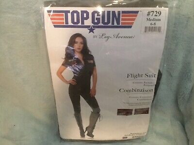 Top gun leg avenue flight suit jumpsuit women's medium 6 to 8 new free shipping