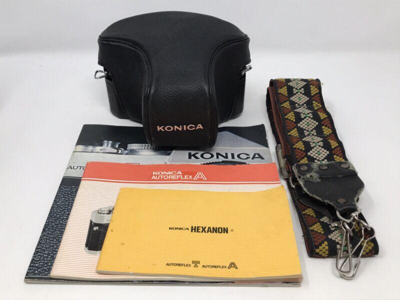 Konica Autoreflex A 35mm Film Camera w/ Hexanon AR 52mm F1.8 Lens