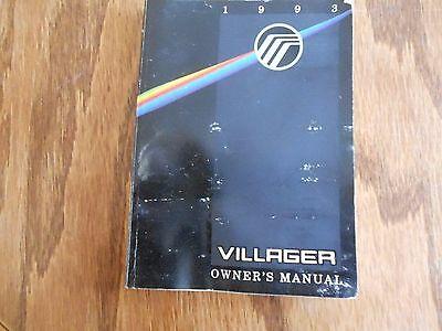 93 Villager Owners Operators Manual