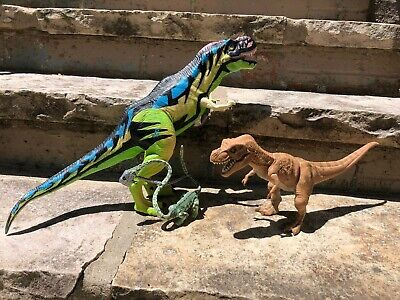 Jurassic Park World Toy Lot Neon Chaos Effect T-Rex, Tanystropheus, Young T-Rex