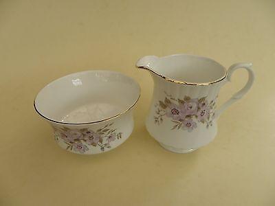 Royal Stafford Bone China, Floral Milk Jug & Open Sugar Bowl.