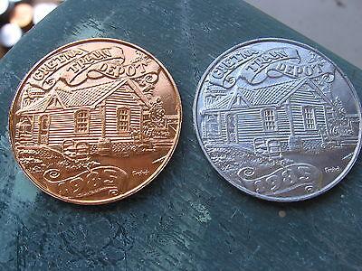 qty 3 train depot 1985 & 94 Mardi Gras Doubloon Coin rare new orleans SALE! (Mardi Gras Depot)