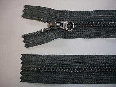 RV408 Reißverschluß YKK grau 38cm lang, 2 Stück