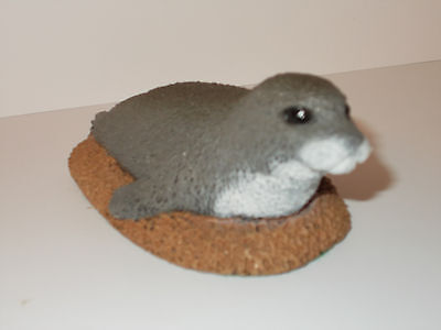 Hand-Made Seal Lion Ornament  Figurine   Makers Mark P.J. Dutt  -  Lovely