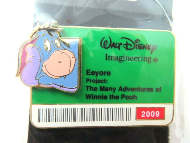 Disney Pin WDI - ID Badge Series 2009 - Eeyore LE 300 #74256