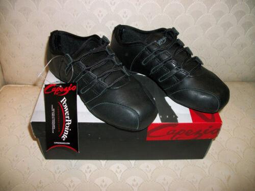 Capezio Rider Jazz Shoe Sneaker Black PP11 Leather PowerPointe New in Box 5-14