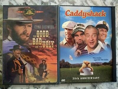 Dvd Movies  The Good The Bad The Ugly   Caddyshack