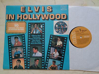 ELVIS PRESLEY IN HOLLYWOOD *RARE NEW ZEALAND VINYL LP*1976*