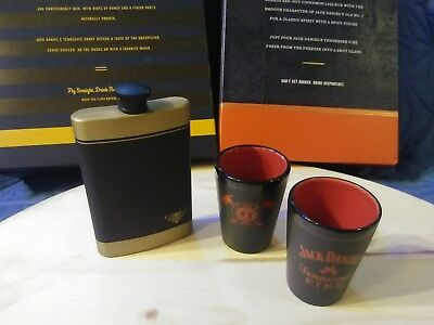 Jack Daniels Tennessee Fire Shot Glasses AND Jack Daniel's Honey Flask! for sale  Shipping to Canada
