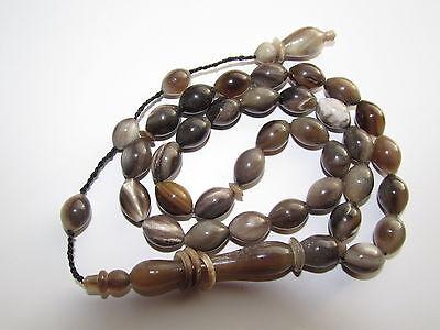 Hm- Water Buffalo Horn Prayer Chain Beads Tesbih Islam Quran Sibha Kurdish