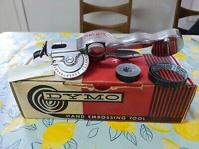 Vintage Dymo Mite Label Tapewriter Hand Embossing Tool Patent Pending Working