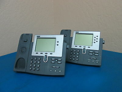 Lot Of 2 Cisco Ip Phones 7940 7960 No Headsets - As Shown