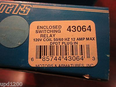 Mars Enclosed Switching Relay 120vacdpdt - 43064