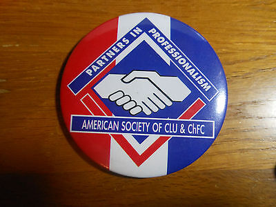 Vintage Pin Partners In Professionalism American Society Of Clu   Chfc