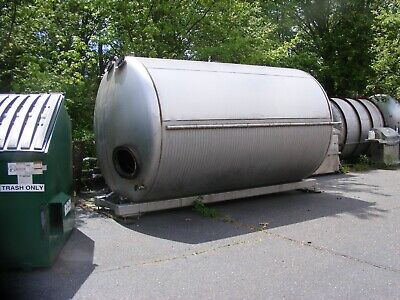 5000 Gallon Horizontal Jacketed Stainless Steel Tank W Mixer On Frame In Nj