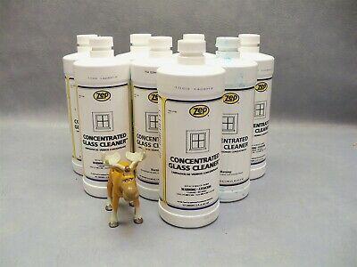 Zep concentrated glass cleaner commercial Lot of 8 bottles (20oz -