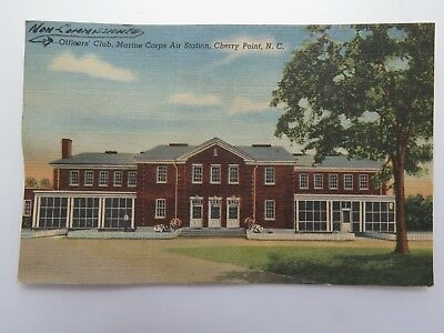 Vintage Postcard WWII Officers Club Marine Corps. Air Cherry Point NC #6442