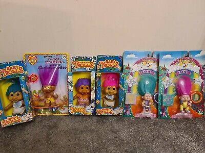 Troll dolls bundle , vintage trolls new in packaging from the 90s 6x trolls