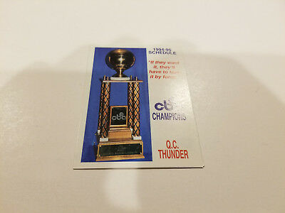 Quad City Thunder 1994/95 CBA Basketball Pocket Schedule - The Brandt Company](Party City Schedule)
