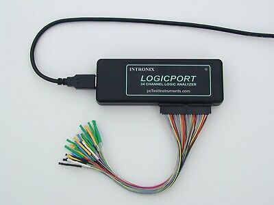 Usb Logic Analyzer 34 Channels 500mhz Intronix With 16xkm Micro Grabber