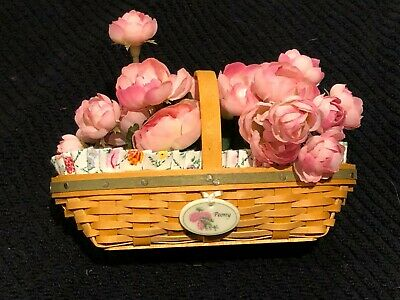 Longaberger May series Miniature Peony Basket 2006