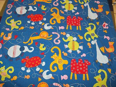Vintage IKEA Barnslig Djur Zoo Animal Cracker Twin Duvet Cover Comforter - $39.99