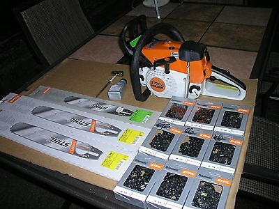 STIHL MS260 PRO . SUPER NICE PACKAGE. wow look.weather cover