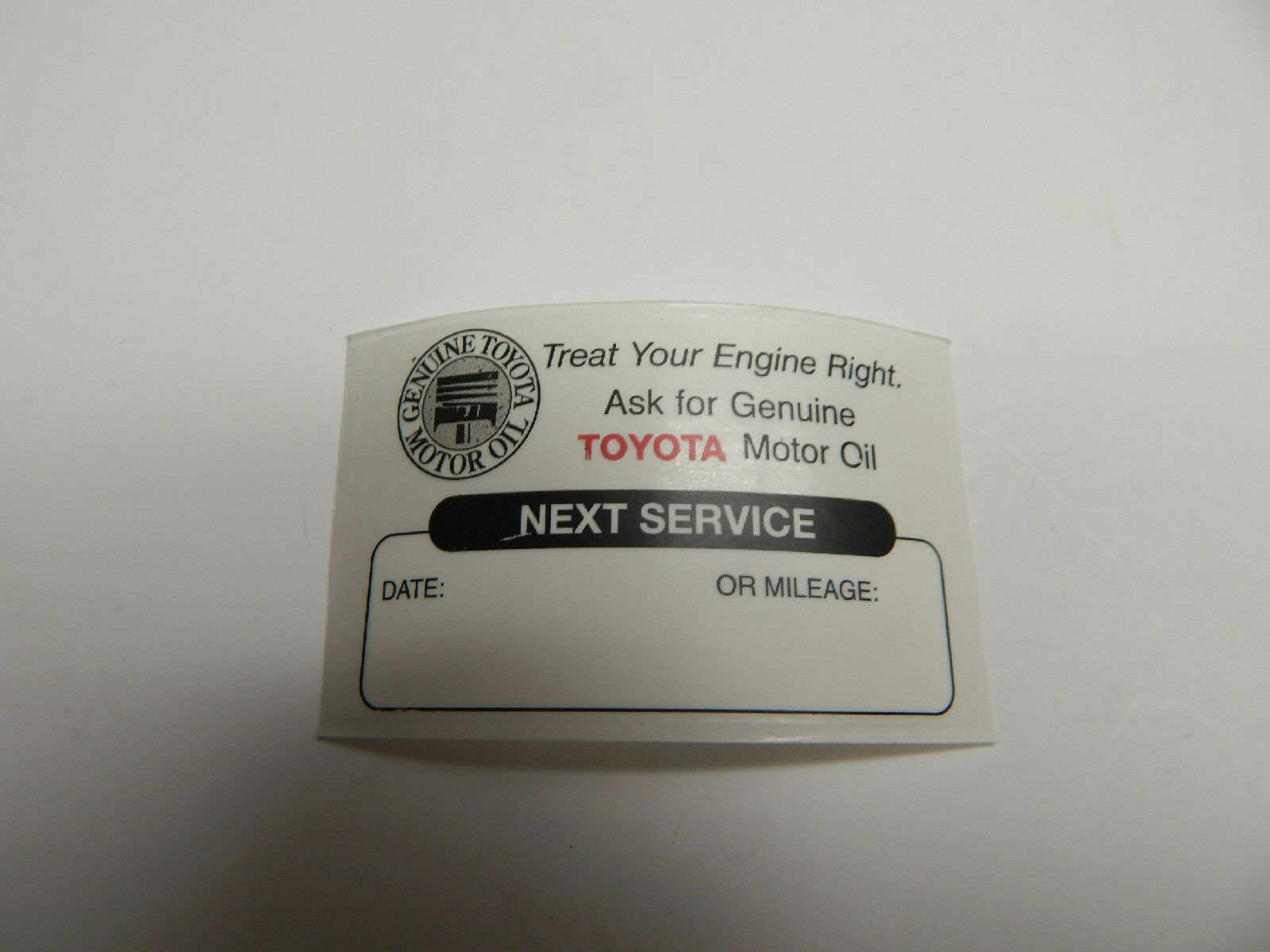 24 TOYOTA CLEAR OIL CHANGE SERVICE REMINDER STICKERS FOR WINDSHIELD OEM