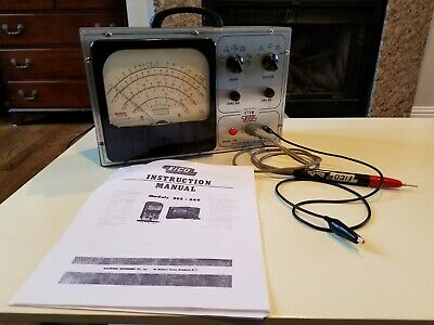 Vintage Eico 249 Vacuum Tube Voltmeter. Vtvm. With Probe. Tested Working