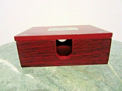 Note Paper Memo Pad Holder Box With Removable Lid Mother Of Pearl Inlay