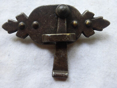 Large Rustic Solid Brass Latch Keeper 913 Multi