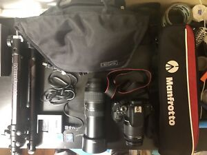 Canon 750d / Rebel t6i with 2 lens tripod sd in 10/10 condition