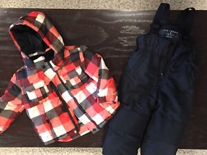 Toddler Boys Winter Jacket and Ski pants-3 years