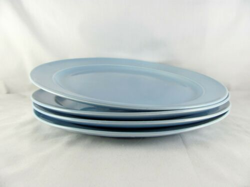 "4 Taylor Smith Taylor LuRay Pastels Dinner Plates, 10"", vtg"