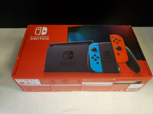 Nintendo Switch Original Neon Joy Con System Console Case EMPTY RETAIL BOX ONLY