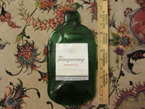 Vintage Tanqueray Gin Heavy Green Glass Wall Hanging Bar Decoration